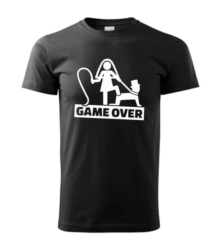 0ba0212c22be Vtipné pánske tričko s potlačou GAME OVER