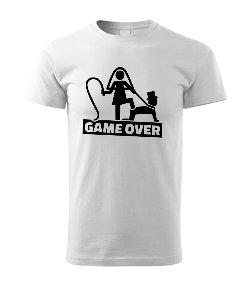a64dd5e93c4a Vtipné pánske tričko s potlačou GAME OVER